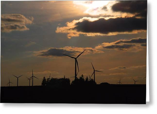 Generators Greeting Cards - Wind Generators Greeting Card by Kathryn Meyer