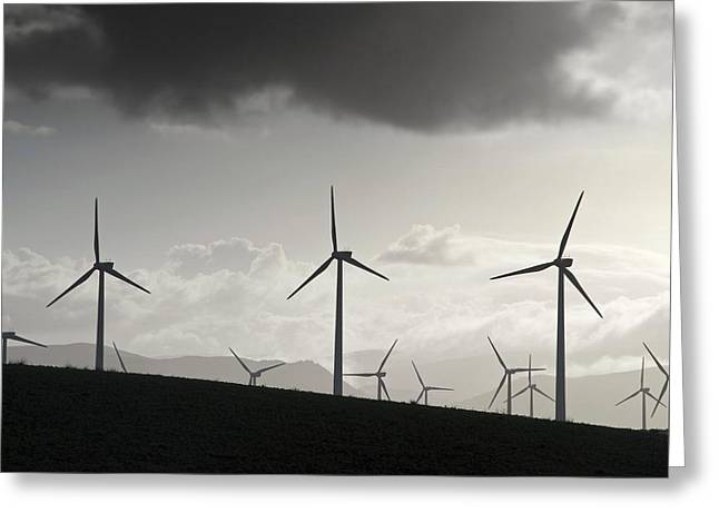 Generators Greeting Cards - Wind Turbines Greeting Card by Chris Knapton