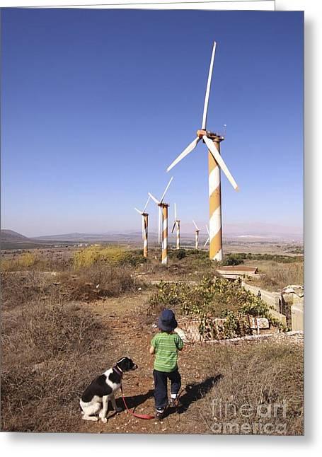 Generators Greeting Cards - Wind Turbines Greeting Card by PhotoStock-Israel