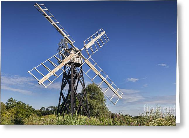 Rural Landscapes Greeting Cards - Windmill Greeting Card by Colin and Linda McKie