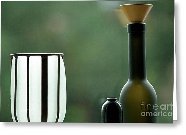 Glass Vase Greeting Cards - Window sill decoration Greeting Card by Heiko Koehrer-Wagner
