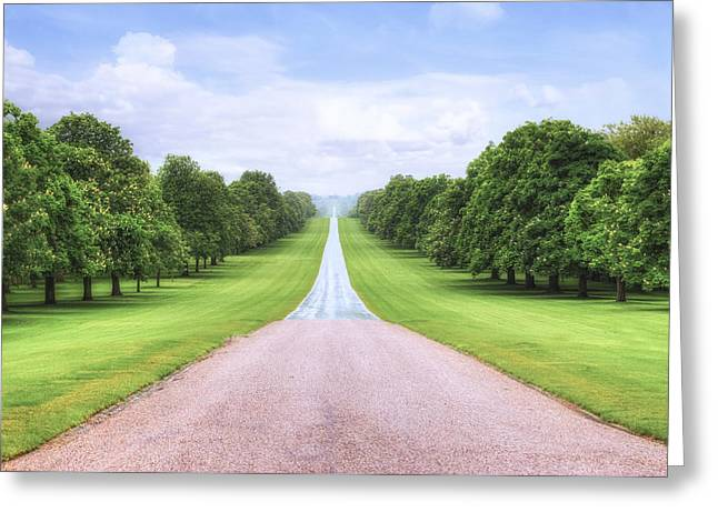 Family Walks Greeting Cards - Windsor Castle - Long Walk Greeting Card by Joana Kruse