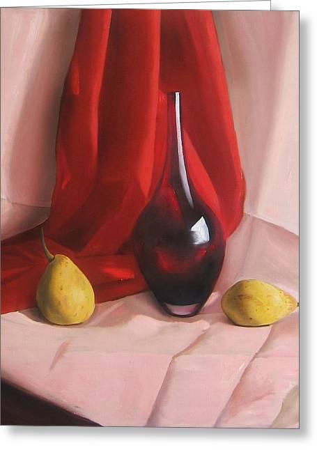 Tangerines Greeting Cards - Wine - not ? Greeting Card by Kristina Savchenko
