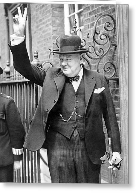 Winston Churchill Greeting Card by English School