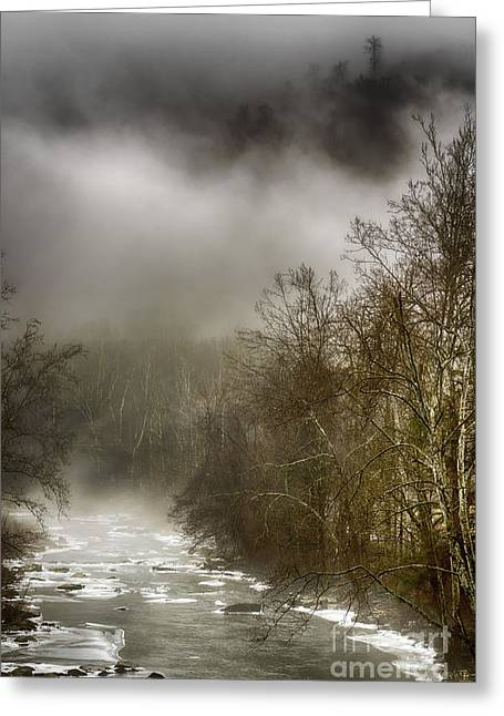 Nicholas Greeting Cards - Winter along Cherry River Greeting Card by Thomas R Fletcher