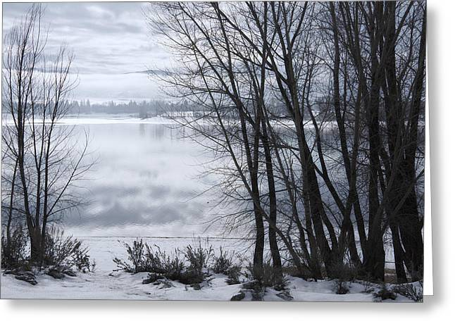 Huntsville Greeting Cards - Winter at the Lake Greeting Card by Utah Images