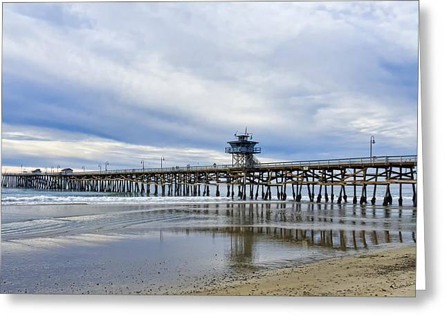 Recently Sold -  - Clemente Greeting Cards - Winter at the Pier Greeting Card by Barbara Eads
