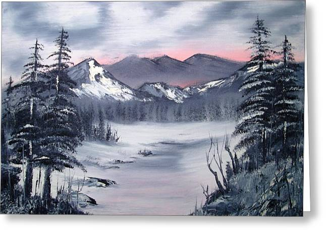 Winter In Three Colors Greeting Card by Larry Hamilton