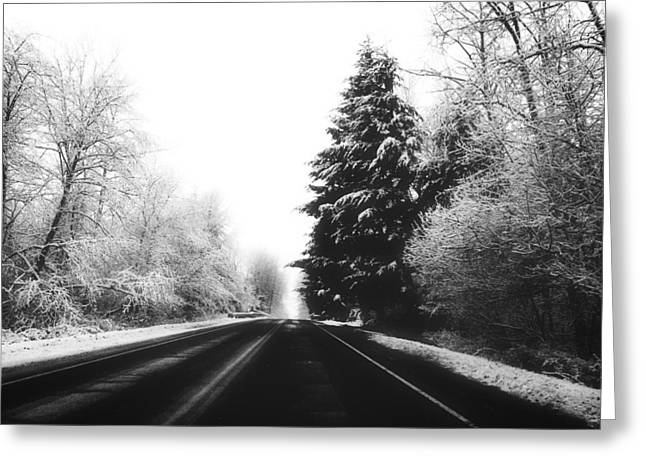 Wintry Greeting Cards - Winter Journey Greeting Card by Angie Beau