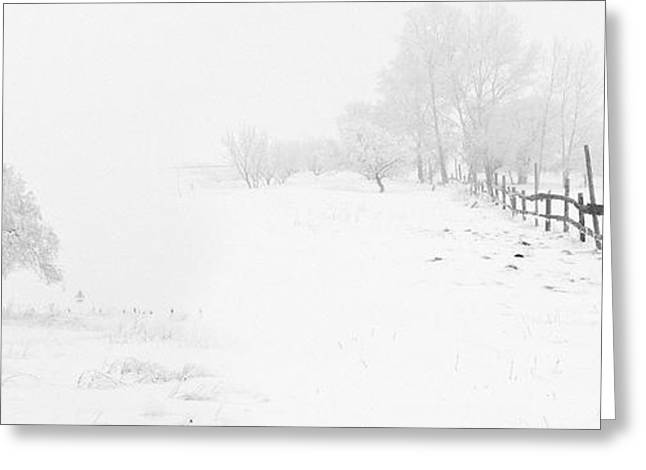 Bierstadt Greeting Cards - Winter Landscape - Let it Snow Greeting Card by Celestial Images