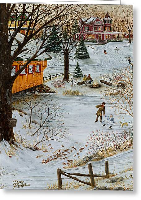 Seen Greeting Cards - Winter Memories 3 of 4 Greeting Card by Doug Kreuger