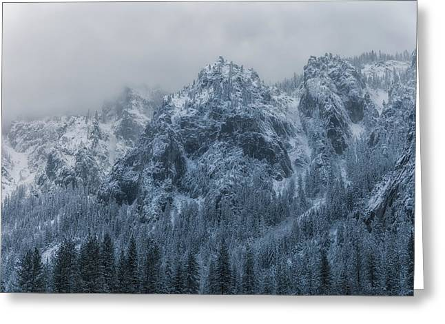 Winter Storm Greeting Cards - Winter Scene Greeting Card by Jonathan Nguyen