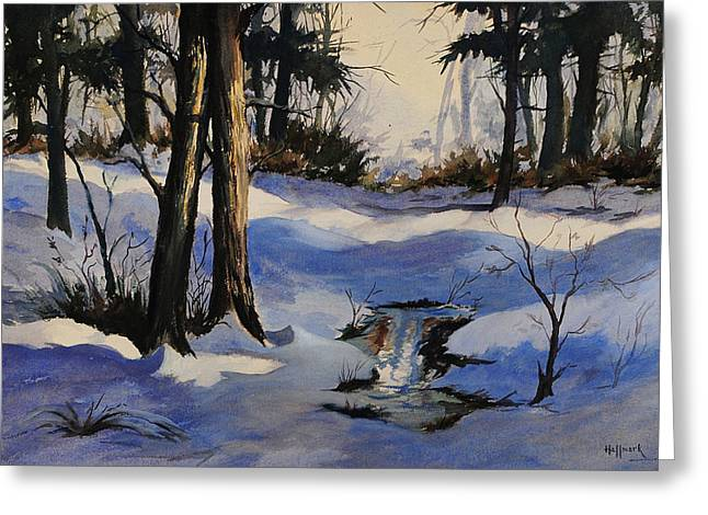 Winter Shadows Greeting Card by Bob Hallmark