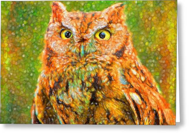 Animal Wisdom Greeting Cards - Wise Eyes Greeting Card by Mary Jo Allen