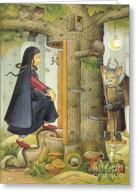 Witch Greeting Cards - Witch Greeting Card by Kestutis Kasparavicius