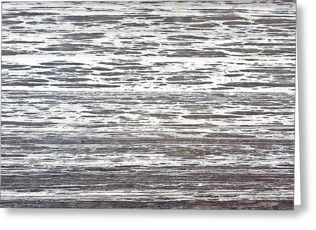 Dark Wood Table Greeting Cards - Wood texture Greeting Card by Tom Gowanlock