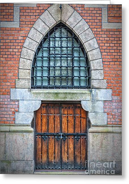 Entryway Greeting Cards - Wooden Arch Doors Greeting Card by Antony McAulay