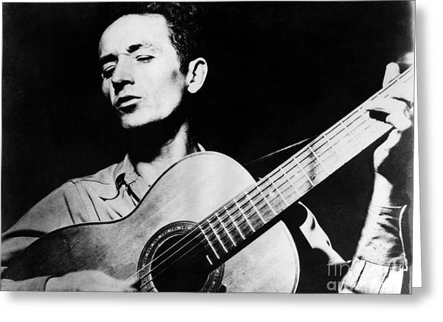 Woody Guthrie (1912-1967) Greeting Card by Granger