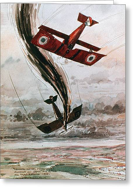 1910�s Greeting Cards - World War I: Aerial Combat Greeting Card by Granger