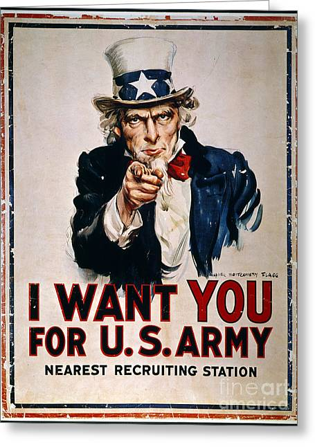 World War I: Uncle Sam Greeting Card by Granger