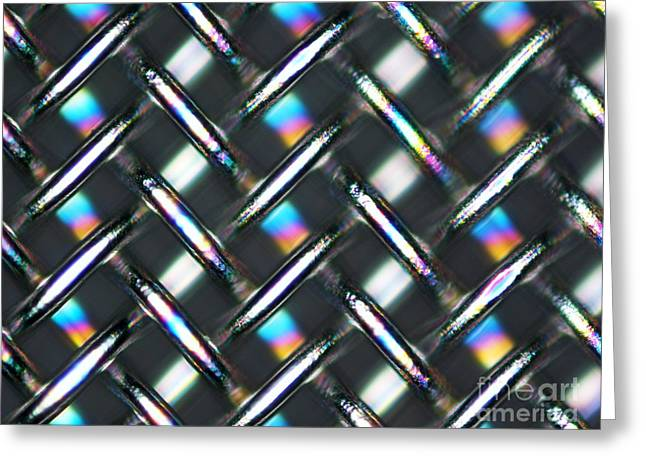 Stainless Steel Greeting Cards - Woven Stainless Steel, Lm Greeting Card by Pasieka