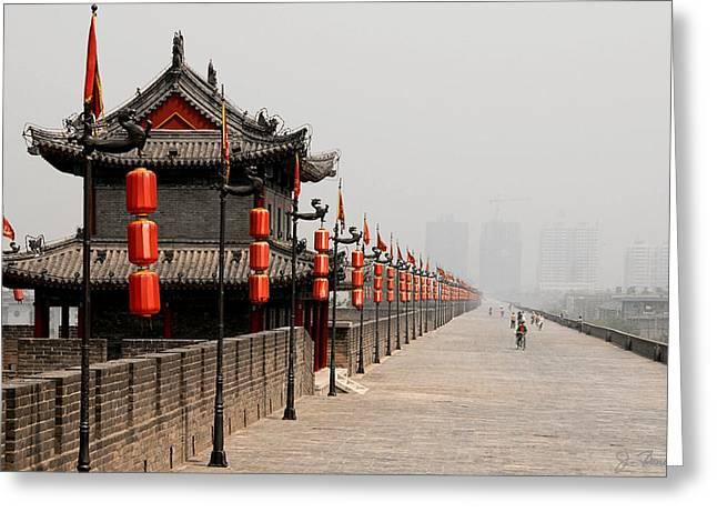 Xian Greeting Cards - Xian Lanterns Greeting Card by Joe Bonita