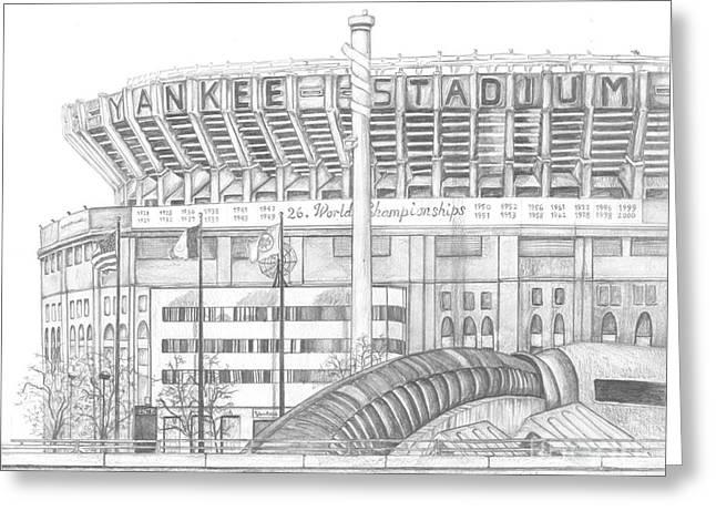 Yankee Stadium Greeting Card by Juliana Dube