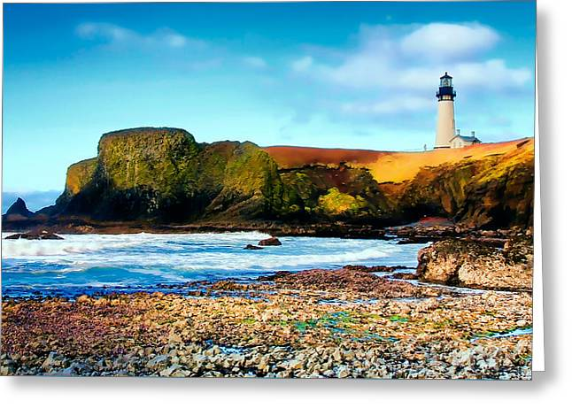 Yaquina Bay Lighthouse II Greeting Card by Athena Mckinzie