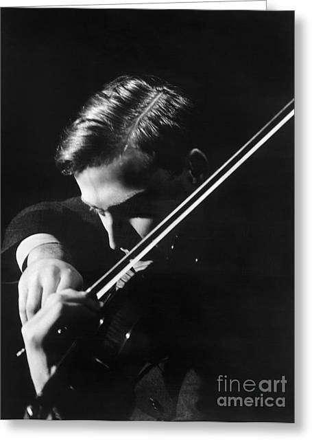 1930s Portraits Greeting Cards - Yehudi Menuhin (1916-1999) Greeting Card by Granger