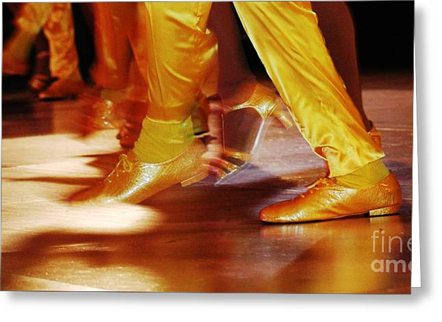 Dance Studio Greeting Cards - Salsa - Yellow Dancing Shoes Greeting Card by Anahi DeCanio - ArtyZen Studios