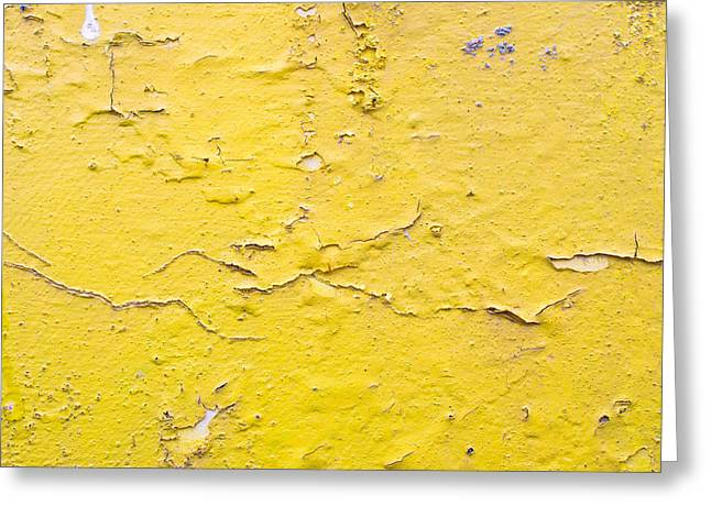 Imperfect Greeting Cards - Yellow wall Greeting Card by Tom Gowanlock