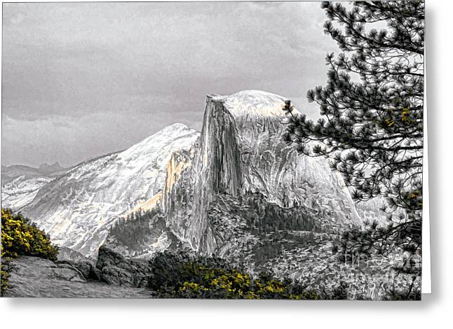 Chuck Kuhn Greeting Cards - Yosemite Half Dome Greeting Card by Chuck Kuhn