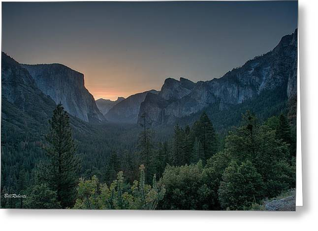 Yosemite Sunrise  Greeting Card by Bill Roberts
