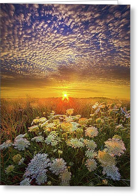 Your Whisper Tells A Secret Greeting Card by Phil Koch