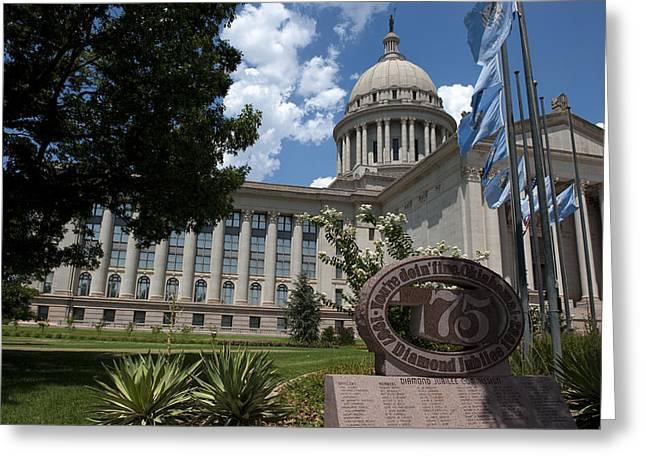 Politics Prints Greeting Cards - Youre Doin Fine Oklahoma Greeting Card by Ricky Barnard