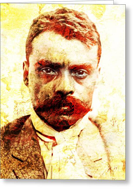 Mexican Revolution Greeting Cards - Zapata Greeting Card by Jose Espinoza