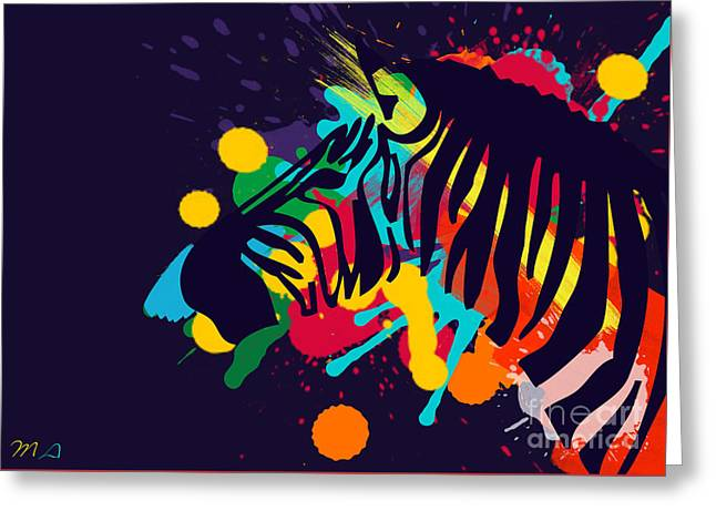 Animals Love Greeting Cards - Zebra Greeting Card by Mark Ashkenazi