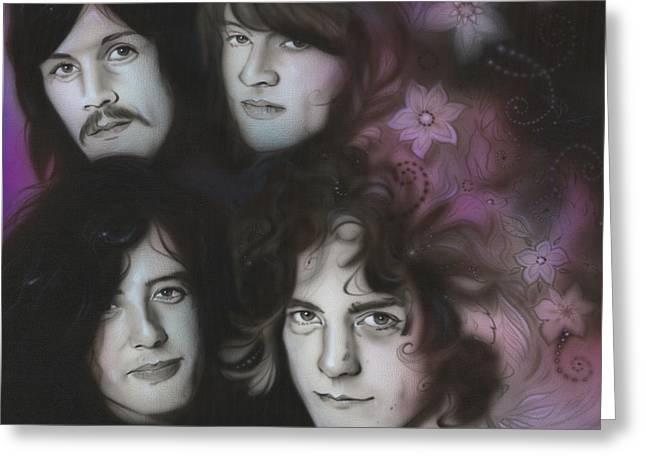 Led Zeppelin - ' Zeppelin ' Greeting Card by Christian Chapman Art