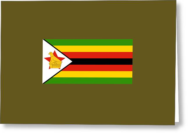 Zimbabwe Flag Greeting Card by Frederick Holiday