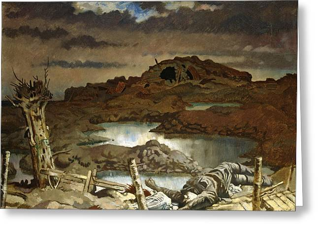 Orpen Greeting Cards - Zonnebeke Greeting Card by William Orpen