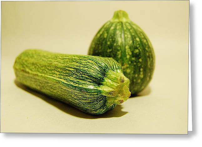 West Fork Greeting Cards - Zucchini Greeting Card by Jennifer Smith