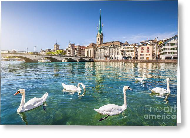 Swiss Photographs Greeting Cards - Zurich Greeting Card by JR Photography