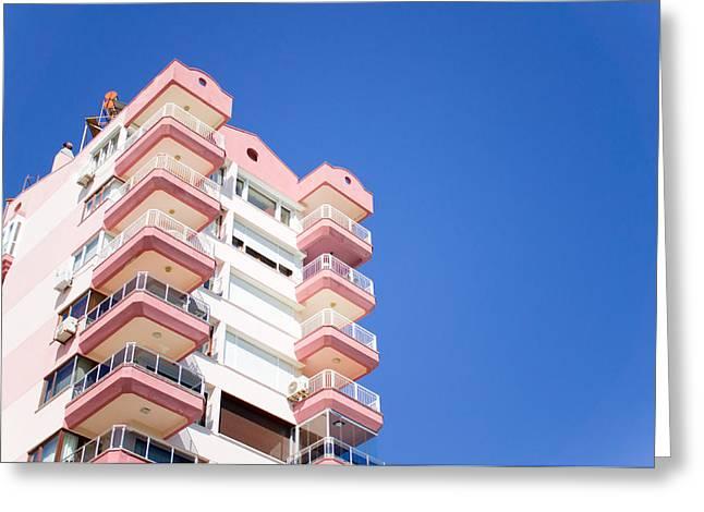 Antalya Buildings Greeting Card by Tom Gowanlock