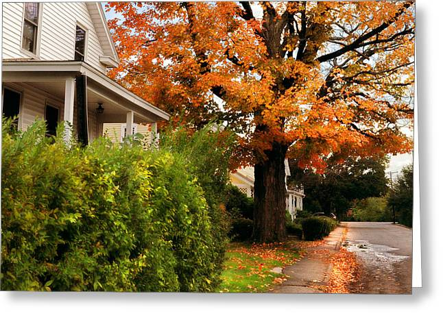 Northampton Greeting Cards - Autumn Series Greeting Card by HD Connelly