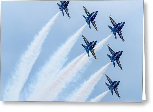 Rockford Greeting Cards - Blue Angels Greeting Card by Randy Scherkenbach