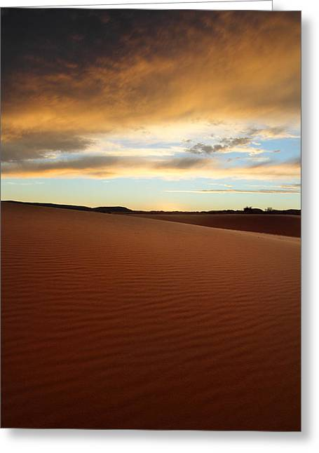 Coral Pink Sand Dunes Greeting Cards - Coral Pink Sand dunes at sunset Greeting Card by Pierre Leclerc Photography