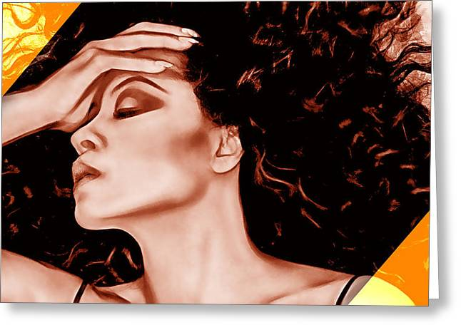 Diana Ross Greeting Cards - Diana Ross Collection Greeting Card by Marvin Blaine