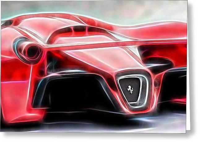 Racing Car Greeting Cards - Ferrari LaFerrari Greeting Card by Marvin Blaine