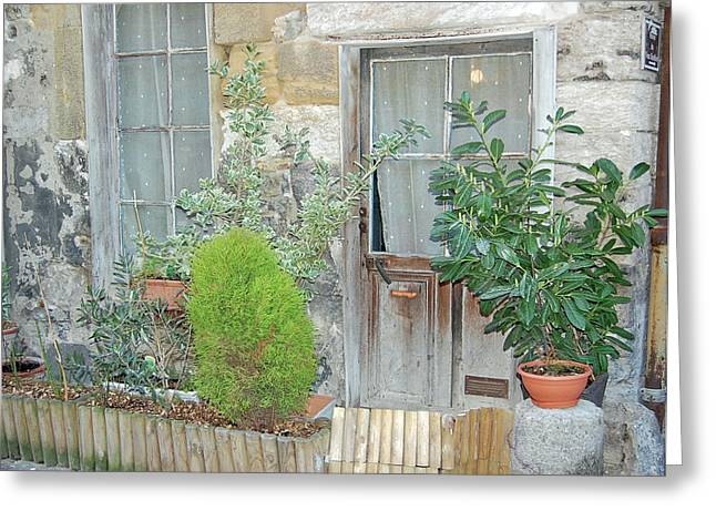 French Doors Greeting Cards - French Doors Greeting Card by Mary Tuomi