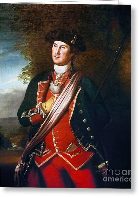 Colonial Man Greeting Cards - George Washington Greeting Card by Granger
